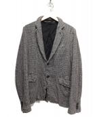 COMME des GARCONS HOMME(コムデギャルソンオム)の古着「縮絨グレンチェックデザインジャケット」