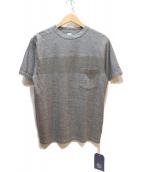 KAPTAIN SUNSHINE(キャプテンサンシャイン)の古着「フロントラインポケットTシャツ」|グレー