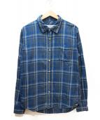 REMI RELIEF(レミレリーフ)の古着「コットンチェックシャツ」|ブルー×グレー