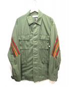 FACETASM(ファセッタズム)の古着「バックラインミリタリージャケット」|カーキ×レッド