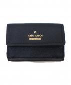 Kate Spade(ケイトスペード)の古着「3つ折り財布」 ブラック