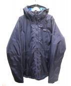 Patagonia(パタゴニア)の古着「中綿フーデッドジャケット」 ネイビー