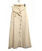 MAISON SPECIAL(メゾンスペシャル)の古着「リネンラップマキシスカート」|アイボリー