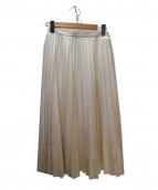 ADIEU TRISTESSE LOISIR(アディートリステス ロワズィール)の古着「セミイージープリーツスカート」|ホワイト