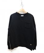 CRIMIE(クライミー)の古着「極厚吊り編みクルーネックポケットスウェット」 ブラック