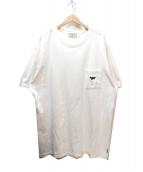 BLUE BLUE×MAISON KITSUNE(ブルーブルー×メゾンキツネ)の古着「コラボポケットTシャツ」|ホワイト