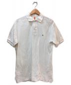 SCYEBASICS(サイベーシックス)の古着「ミニワッペンワンポイントポロシャツ」|ホワイト