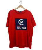 POLO RALPH LAUREN(ポロラルフローレン)の古着「プリントTシャツ」|レッド×ネイビー