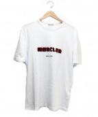 MONCLER(モンクレール)の古着「ロゴプリントTシャツ」|ホワイト×ボルドー