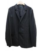 MARGARET HOWELL(マーガレットハウエル)の古着「ストライプアンコンジャケット」|グレー