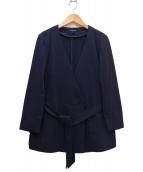 LAUTRE AMONT(ロートレアモン)の古着「麻調ジャージジャケット」|ネイビー