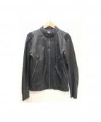 G-STAR RAW(ジースターロウ)の古着「レザーライダースジャケット」|ブラック