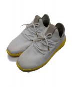adidas×PHARRELL WILLIAMS(アディダス×ファレル・ウィリアムス)の古着「コラボローカットスニーカー」|ホワイト×イエロー