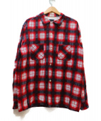NUMBER(N)INE(ナンバーナイン)の古着「チェックネルシャツ」|レッド×ホワイト