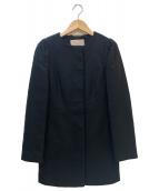 BANANA REPUBLIC(バナナリパブリック)の古着「ノーカラーコート」 ブラック