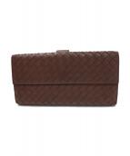 BOTTEGA VENETA(ボッテガベネタ)の古着「ダブルホック長財布」|グレー