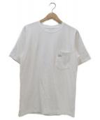 PILGRIM SURF+SUPPLY(ピルグリム サーフ+サプライ)の古着「ヘビーコットンポケットTシャツ」|ホワイト×ネイビー