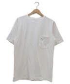Pilgrim Surf+Supply(ピルグリム サーフ+サプライ)の古着「ヘビーコットンポケットTシャツ」 ホワイト×ネイビー