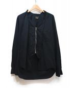 COMMEdesGARCONSHommePlus(コム デ ギャルソン オム プリュス)の古着「ジップシャツ」 ブラック