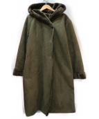 KBF(ケイビーエフ)の古着「フードフェイクムートンコート」|オリーブ