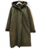 KBF(ケービーエフ)の古着「フードフェイクムートンコート」 オリーブ