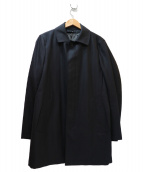 THE SUIT COMPANY(ザスーツカンパニ)の古着「キルティングライナー付ステンカラーコート」|ブラック