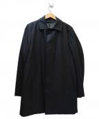 THE SUIT COMPANY(ザ・スーツカンパニー)の古着「キルティングライナー付ステンカラーコート」|ブラック