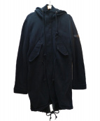 DIESEL(ディーゼル)の古着「キルティングライナー付モッズコート」|ブラック
