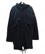 DIESEL(ディーゼル)の古着「キルティングライナー付モッズコート」 ブラック
