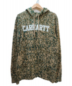 CARHARTT WIP(カーハートダブリューアイピー)の古着「カモ柄プルオーバーパーカー」|カーキ×ベージュ