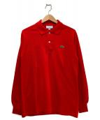 LACOSTE(ラコステ)の古着「長袖ポロシャツ」|レッド