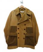 HAVERSACK(ハバーサック)の古着「ヘビーコットン切替ビッグコート」 ベージュ