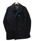 BLUE WORK(ブルーワーク)の古着「ヴィンテージメルトンPコート」|ブラック