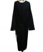 MM6(エムエムシックス)の古着「切替ギャザーワンピース」|ブラック