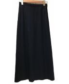 tricot COMME des GARCONS(トリコ コムデギャルソン)の古着「バックブロックマキシデザインスカート」|ネイビー