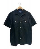 IRON HEART(アイアンハート)の古着「サテンボーリングシャツ」|ブラック×グレー