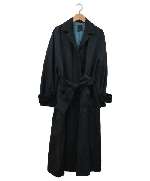 FIGARO Paris(フォガロ パリ)FIGARO Paris (フォガロ パリ) TAダブルサテンステンカラーコート ブラック サイズ:38 IENA取扱 16020938500030の古着・服飾アイテム