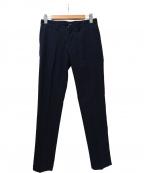lideal(リディアル)の古着「センタープレスウールストライプパンツ」|ネイビー