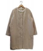 STYLE for LIVING UNITED ARROWS(スタイル フォー リビングユナイテッドアローズ)の古着「ノーカラーボアコート」|アイボリー