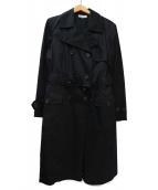 J&M DAVIDSON(ジェイエムデビッドソン)の古着「トレンチコート」|ブラック