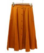 ETRO(エトロ)の古着「シルクスカート」|マスタード