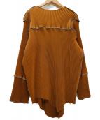 todo KOTOHA YOKOZAWA(トゥードゥーコトハヨコザワ)の古着「プリーツデザインワンピース」|ブラウン×グレー