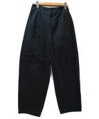 nagonstans(ナゴンスタンス)の古着「ワイドテーパードパンツ」|ブラック