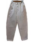 nagonstans(ナゴンスタンス)の古着「ワイドテーパードデニムパンツ」|ホワイト
