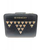 GIVENCHY(ジバンシィ)の古着「スタッズ2つ折り財布」 ブラック×ゴールド