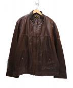 Timberland(ティンバーランド)の古着「カウレザージャケット」|ブラウン