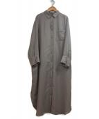 Mila Owen(ミラオーウェン)の古着「やわらかロングシャツワンピース」|グレー