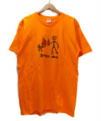 Supreme(シュプリーム)の古着「プリントTシャツ」|オレンジ×ブラック