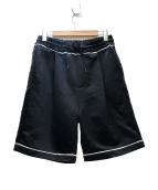 DROLE DE MONSIEUR(ドロール ド ムッシュ)の古着「サテントラックショーツ」|ブラック×ホワイト