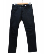 THE NORTH FACE PURPLELABEL(ザノースフェイス パープルレーベル)の古着「ベルテッドデニムパンツ」|ブラック